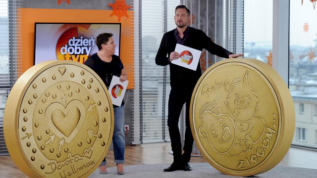 Marcin Prokop, Dorota Wellman i dukaty